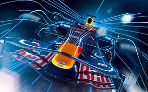 Wallpaper Formula 1, line, speed