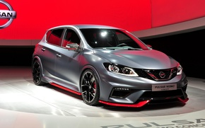 Picture photo, Tuning, Grey, Nissan, Car, 2015, Pulsar Nismo