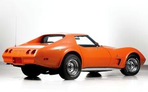 Picture auto, Corvette, Chevrolet, orange, Stingray