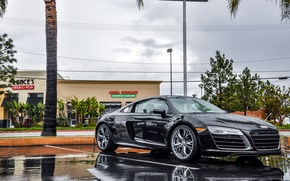 Picture Audi, Rain, V10, Supercar, More, 2014