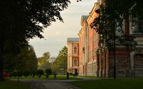 Picture greens, summer, castle, feelings, pair, walk, Riga, Latvia