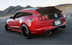Picture Mustang, Ford, Shelby, GT500, Red, Ford, Mustang, Red, Shelby, Wagon, Universal, Based-Shooting