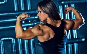 Picture muscle, pose, Bodybuilding, Olga Belyakova