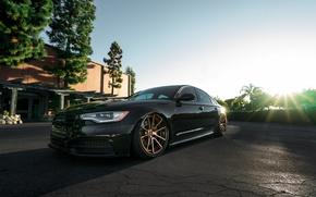 Picture Audi, Black, Wheels, Rotiform, Bronze, The dealership, Boden
