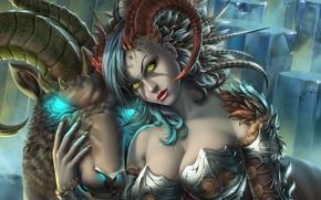 Picture girl, art, fantasy, Capricorn