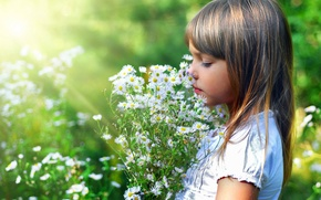 Picture flowers, girl, BEAUTY