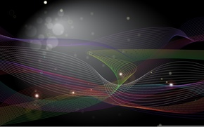 Picture wave, color, line, circles, glare, paint, colors, bright, circles, lines, abstraction, bright, highlights