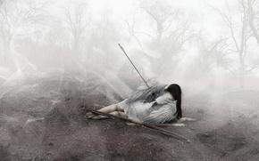 Wallpaper death, angel, arrow