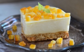 Picture orange, dessert, cheesecake