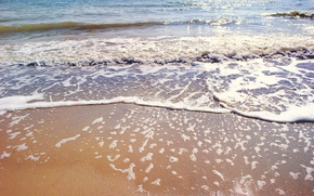 Wallpaper sand, sea, wave, beach, shore, summer, beach, sea, blue, sand, shore, paradise