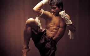 Wallpaper wall, Ong bak, Thai Boxing