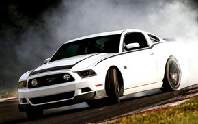 Picture White, RTR, Drift, White, Skid, Wallpaper, Mustang, RTR, Car, Package, Drift, Car, Smoke, Ford, Machine, ...