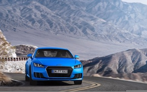 Picture Audi TT, mountains, blue, coupe, Audi TTS Coupe 2015