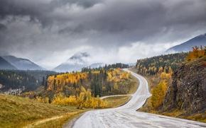 Wallpaper Canyon Creek valley, autumn, road