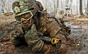 Picture weapons, mask, soldiers, costume, machine, sight, helmet, exercises