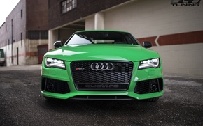 Picture green, audi, RS7