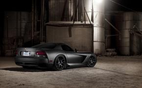 Picture black, Matt, Dodge, black, Viper, Dodge, Viper, the rear part, SRT10