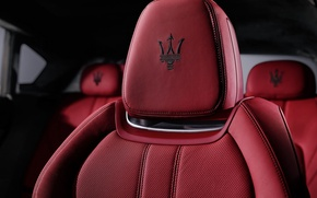 Picture red, icon, chair, logo, maserati, seat