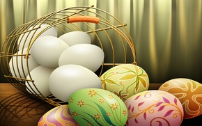 Picture paint, Easter, eggs