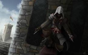 Picture art, assassins creed, assassin, Ezio, ezio