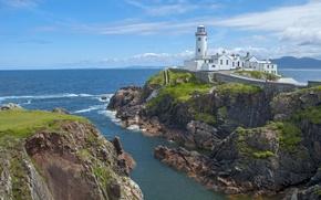 Picture sea, shore, lighthouse, Cape