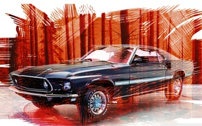 Picture background, Mustang, Ford, Mustang, Ford