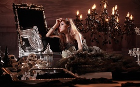 Picture girl, decoration, reverie, luxury, wealth