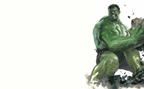 Picture the wreckage, green, Hulk, Hulk, fierce, Marvel Comics
