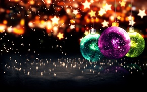 Picture New Year, Christmas, Christmas, balls, New Year, Happy, Merry