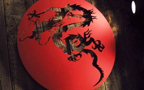 Picture dragon, Board, Red, disk