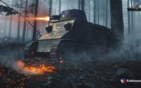 Picture WoT, World of tanks, World of Tanks, Wargaming, Czech tank, Kolohousenka