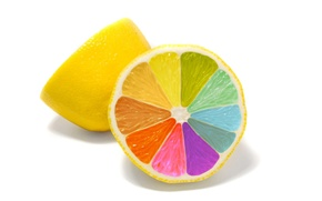 Picture minimalism, Lemon, colorful