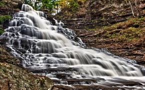Picture waterfall, Pennsylvania, Ricketts Glen State Park