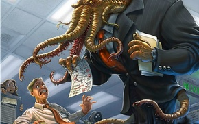 Picture Cthulhu, head, office