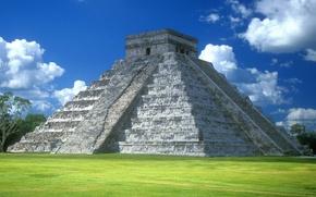 Wallpaper Mexico, The Pyramid Of Kukulkan, Yucatan