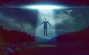 Picture the sky, light, people, UFO, ufo, light, stranger, sky, alien, man, stranger, taken, alien