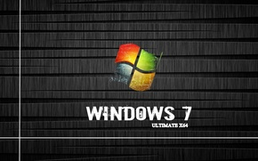Picture Windows 7, ultimate x64, box icons, shelve