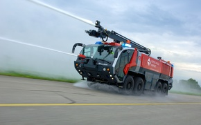 Picture water cannons, fire-service vehicles, Rosenbauer Crash Tender, vehicles