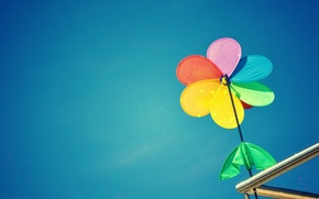Picture the sky, bright, background, blue, Wallpaper, mood, spinner, wallpaper, widescreen, color, background, full screen, HD …