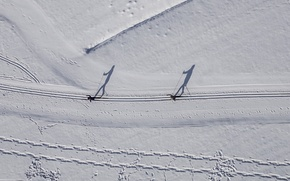 Wallpaper sport, trails, winter