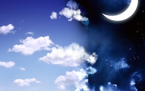 Picture clouds, The sky, Crescent
