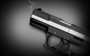 Wallpaper weapons, gun, black and white