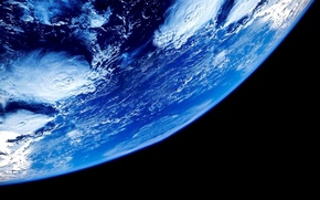 Picture black, Earth, blue, planet