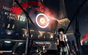 Picture cyberpunk, capcom, Adrift, Nylin, remember me, Neo-Paris, The Eiffel Tower, memoreyes
