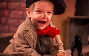 Picture joy, mood, boy, cap, chimney sweep
