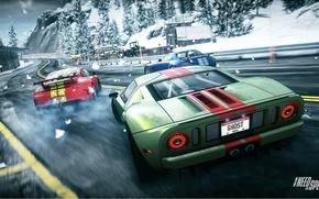 Picture race, 911, Porsche, skid, Mercedes, Ford GT, drift, Need for Speed, nfs, SLS, GT3, race, …