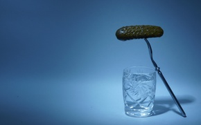 Picture cucumber, stack, vodka