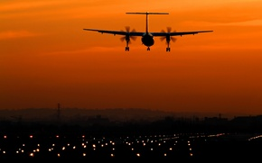 Picture the sky, aviation, sunset, the plane