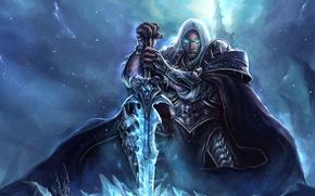 Picture WoW, World of Warcraft, Lich King, art, Arthas Menethil, Arthas Menethil