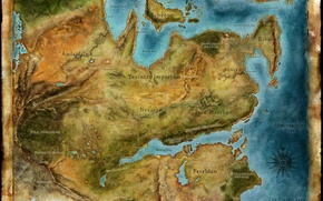 Picture paper, the world, map, Dragon Age 2